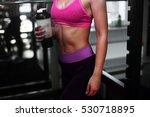athletic women showing body in... | Shutterstock . vector #530718895
