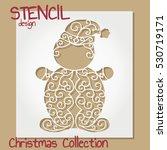 stencil design template.... | Shutterstock .eps vector #530719171