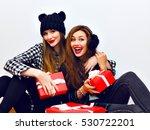 positive cheerful portrait of... | Shutterstock . vector #530722201