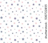 Stock vector seamless background with colorful stars 530722855