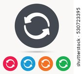 update icon. refresh or repeat... | Shutterstock .eps vector #530723395
