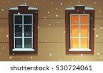 retro windows in snow | Shutterstock .eps vector #530724061