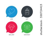 colored speech bubbles. love... | Shutterstock .eps vector #530724415