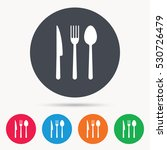 fork  knife and spoon icons.... | Shutterstock .eps vector #530726479