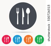 fork  knife and spoon icons.... | Shutterstock .eps vector #530726515