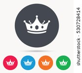 Crown Icon. Royal Throne Leade...
