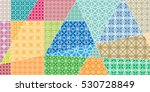 vector patchwork pattern.... | Shutterstock .eps vector #530728849