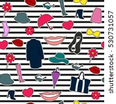 set of fashionable elements for ... | Shutterstock .eps vector #530731057