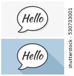 hello bubbles | Shutterstock .eps vector #530733001