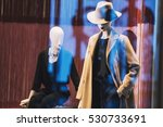 female mannequins in a fashion...   Shutterstock . vector #530733691