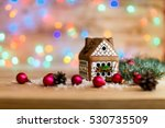 Gingerbread House And Christma...