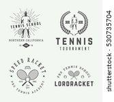 Set Of Vintage Tennis Logos ...