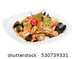 seafood pasta   spaghetti with... | Shutterstock . vector #530739331