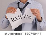 breaking rules concept. | Shutterstock . vector #530740447
