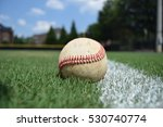 baseball sitting on a freshly... | Shutterstock . vector #530740774