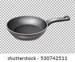 realistic frying pan isolated