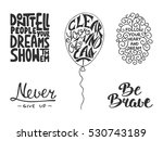 set of vector inspirational and ... | Shutterstock .eps vector #530743189