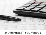 financial accounting pen and... | Shutterstock . vector #530748931