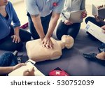 cpr first aid training concept | Shutterstock . vector #530752039