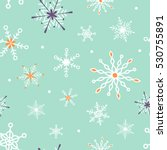 seamless christmas pattern with ... | Shutterstock .eps vector #530755891