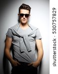 sexy young man in fashion style.... | Shutterstock . vector #530757829