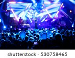 silhouettes of concert crowd in ... | Shutterstock . vector #530758465