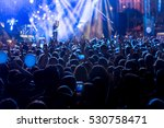 silhouettes of concert crowd in ... | Shutterstock . vector #530758471