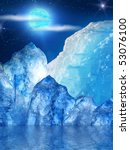 iceberg  mountain  ice clouds | Shutterstock . vector #53076100