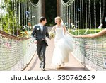 just married  wedding couple... | Shutterstock . vector #530762659