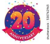 20ht anniversary confetti...   Shutterstock .eps vector #530762965