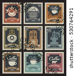 set of stamps for coffee houses ... | Shutterstock .eps vector #530764291