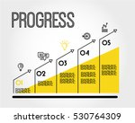 yellow progress infographic... | Shutterstock .eps vector #530764309