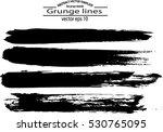 set of grunge brush strokes | Shutterstock .eps vector #530765095