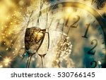 toasting with champagne glasses ... | Shutterstock . vector #530766145