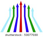 illustration of increase lines | Shutterstock .eps vector #53077030