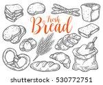 bread hand drawn set... | Shutterstock . vector #530772751