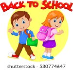 boy and girl are going to school   Shutterstock .eps vector #530774647