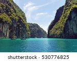 pileh lagoon  phi phi islands ...   Shutterstock . vector #530776825