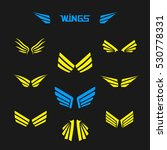 wings collection | Shutterstock .eps vector #530778331