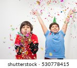 happy kids celebrating party... | Shutterstock . vector #530778415
