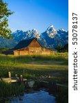 A Mormon Barn In Grand Teton...