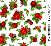 vector christmas seamless... | Shutterstock .eps vector #530786497