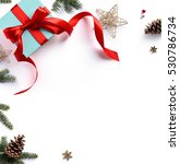 christmas holiday composition ... | Shutterstock . vector #530786734
