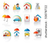 coverage or protection | Shutterstock .eps vector #53078722