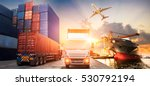 logistics and transportation of ... | Shutterstock . vector #530792194