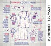 scheme  sketch of  fashion... | Shutterstock .eps vector #530792257