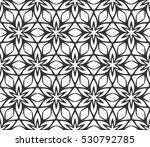 monochrome geometric seamless... | Shutterstock .eps vector #530792785