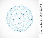 3d vector digital wireframe... | Shutterstock .eps vector #530796511