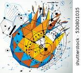 3d cybernetic tech background... | Shutterstock .eps vector #530801035