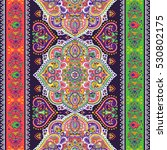 indian floral paisley medallion ... | Shutterstock .eps vector #530802175